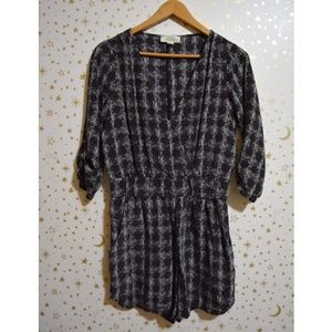 Haven Patterned Romper With Sleeves Small